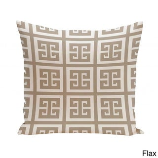 16 x 16-inch Large Greek Key Print Geometric Decorative Throw Pillow