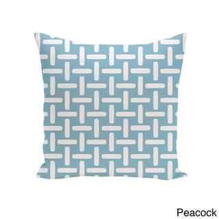 16 x 16-inch Basket Weave Print Decorative Throw Pillow