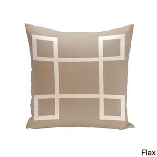 16 x 16-inch Geometric-print Decorative Throw Pillow