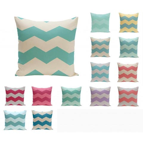 18 x 18-inch Large Chevron Print Geometric Decorative Throw Pillow