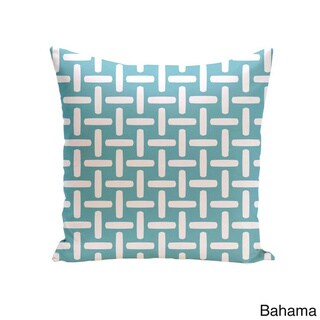 18 x 18-inch Two-tone Printed Geometric Decorative Throw Pillow (Bahama-18)