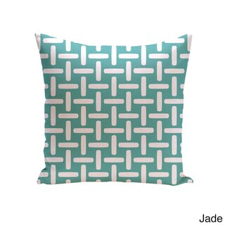 18 x 18-inch Two-tone Printed Geometric Decorative Throw Pillow (Jade-18)