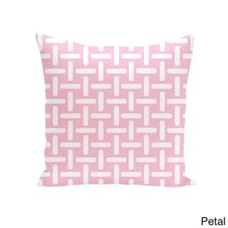 18 x 18-inch Two-tone Printed Geometric Decorative Throw Pillow (Petal-18)