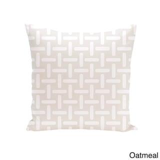 18 x 18-inch Two-tone Printed Geometric Decorative Throw Pillow (Oatmeal-18)