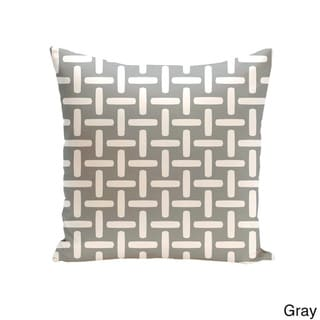 18 x 18-inch Two-tone Printed Geometric Decorative Throw Pillow (Gray-18)