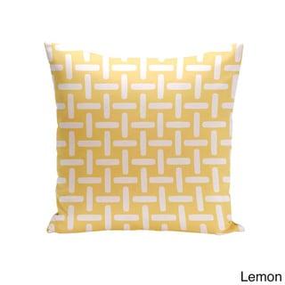 18 x 18-inch Two-tone Printed Geometric Decorative Throw Pillow (Lemon-18)