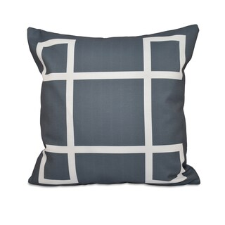 18 x 18-inch Geometric Print Decorative Throw Pillow