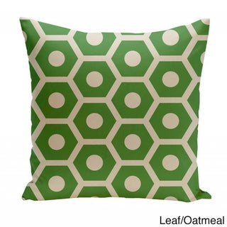 20 x 20-inch Hexagon Print Geometric Decorative Throw Pillow