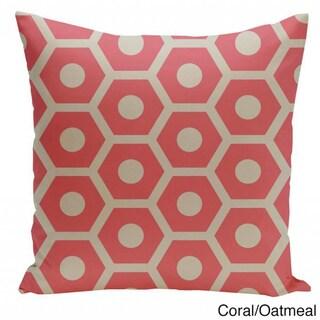 20 x 20-inch Hexagon Print Geometric Decorative Throw Pillow