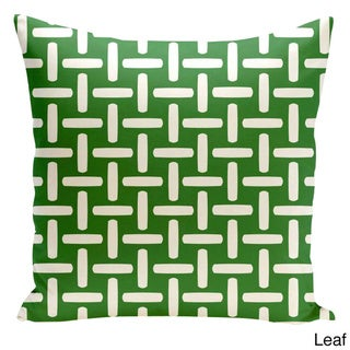20 x 20-inch Basket Weave Print Decorative Throw Pillow