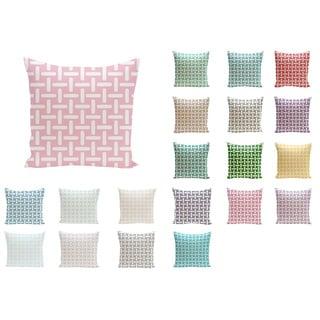 20 x 20-inch Basket Weave Print Decorative Throw Pillow