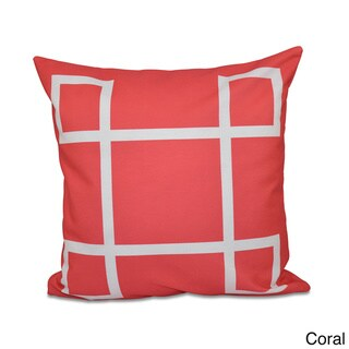 20 x 20-inch Geometric-print Decorative Throw Pillow