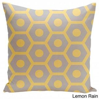 26 x 26-inch Hexagon/ Dot Print Decorative Throw Pillow