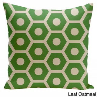 26 x 26-inch Hexagon/ Dot Print Decorative Throw Pillow