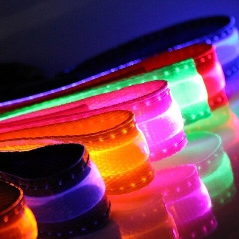 OxGord Nylong LED Light-up Pet Collar