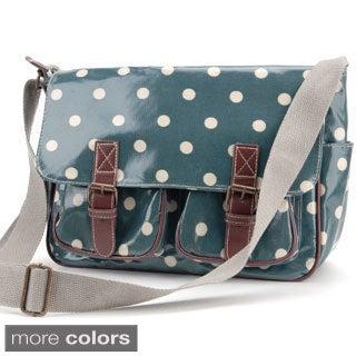 Polka Dot Printed Coated Canvas Crossbody Bag
