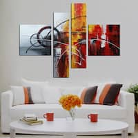 Clay Alder Home Hand-painted 4-piece Gallery-wrapped Canvas Art Set