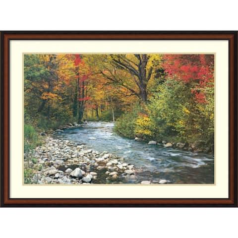 Framed Art Print 'Forest Creek (i)' 43 x 32-inch