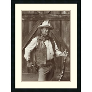 Bob Willoughby 'John Wayne' Framed Art Print 24 x 32-inch