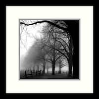 Framed Art Print 'Black and White Morning' by Harold Silverman 13 x 13-inch