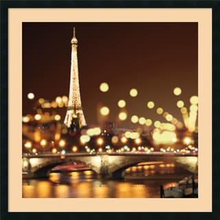 Kate Carrigan 'City Lights-Paris' Framed Art Print 34 x 34-inch