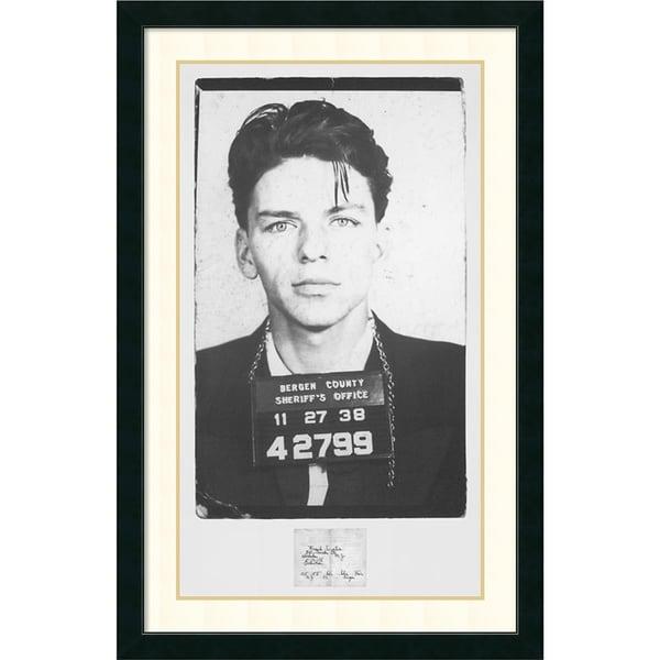 Framed Art Print \'Frank Sinatra Mugshot\' 28 x 43-inch - Free ...