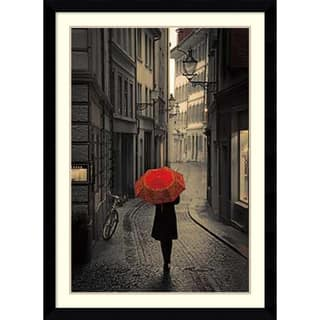 Framed Art Print 'Red Rain' by Stefano Corso 31 x 43-inch|https://ak1.ostkcdn.com/images/products/9239251/P16405627.jpg?impolicy=medium