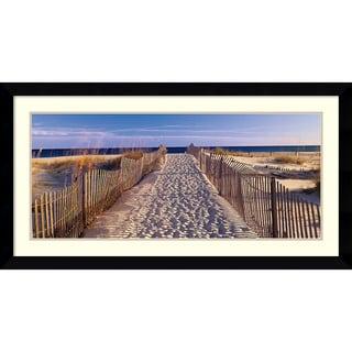 Joseph Sohm 'Pathway to the Beach' Framed Art Print 43 x 23-inch