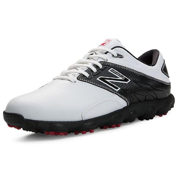 New Balance Men's Minimus LX White/ Black Golf Shoes