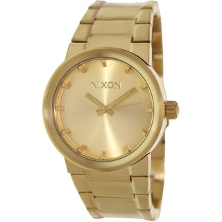 Nixon Men's Cannon A160502 Goldtone Stainless Steel Watch