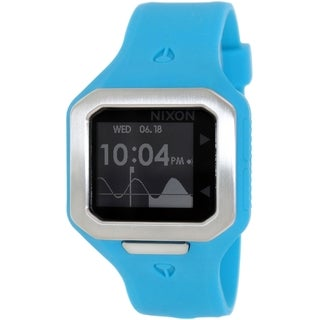 Nixon Men's Supertide A316917 Blue Silicone Quartz Watch with Digital Dial