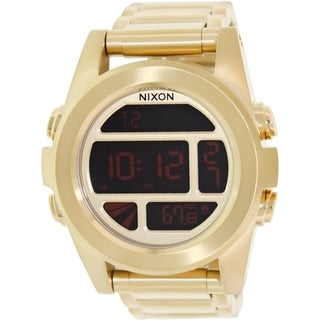 Nixon Men's Unit Ss 'A360502' Goldtone Stainless Steel Digital Watch