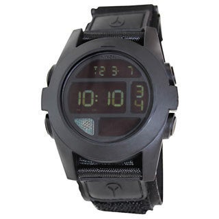 Nixon Men's Baja A489001 Black Cloth Quartz Watch with Digital Dial