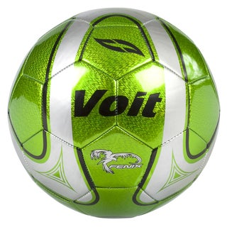 Voit Fenix Size 5 Deflated Green/ Silver Soccer Ball