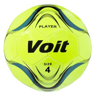 Voit Size 4 Player Soccer Ball Deflated - Neon Yellow
