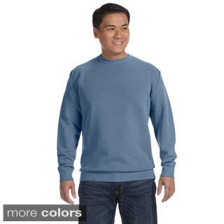 Men's Garment-dyed Fleece Crew Sweatshirt