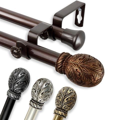 InStyleDesign Laurel Adjustable Double Curtain Rod