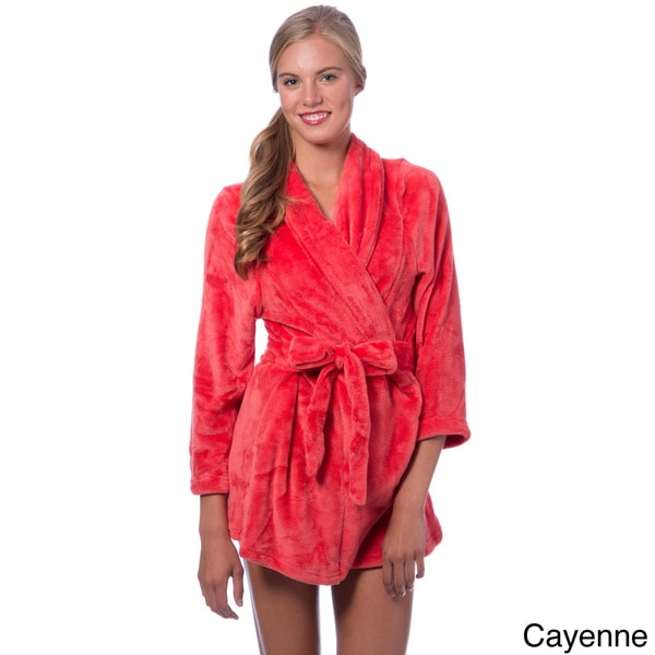 short plush self-belt robe - free shipping on orders over  45 - overstock com