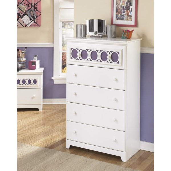 Signature Design By Ashley Zayley 5 Drawer White Chest