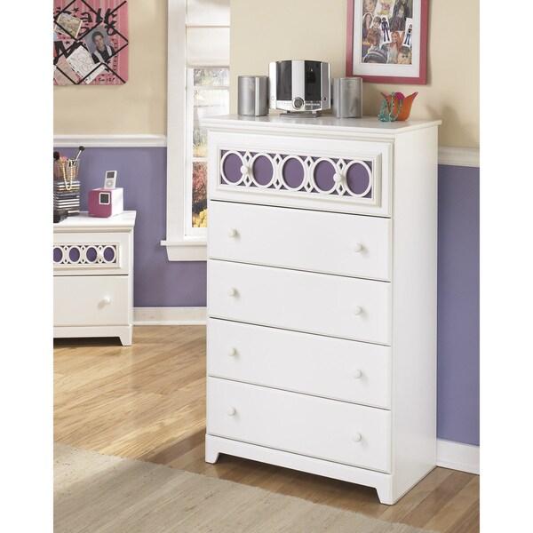 Ashley Furniture Broshtan Door And Drawer Chest: Shop Signature Design By Ashley Zayley 5-drawer White