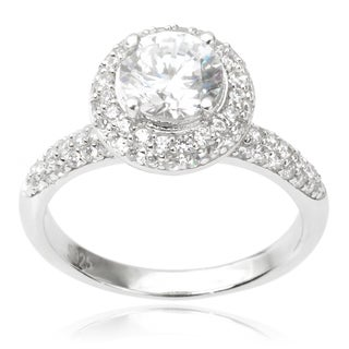 Journee Collection Sterling Silver Cubic Zirconia Engagement Ring (4 options available)