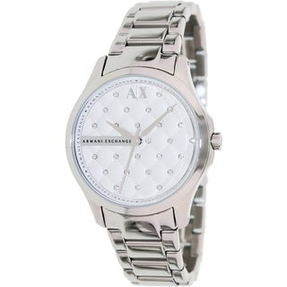 Armani Exchange Women's AX5208 Silvertone Stainless Steel Quartz Watch with White Dial