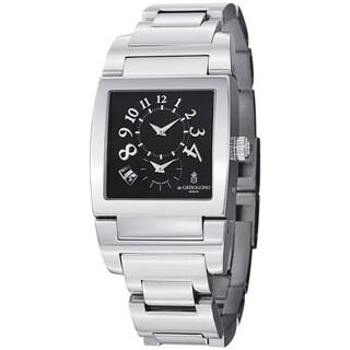 De Grisogono Men's UNODF N07B 'Instrmento' Black Dial Stainless Steel Watch