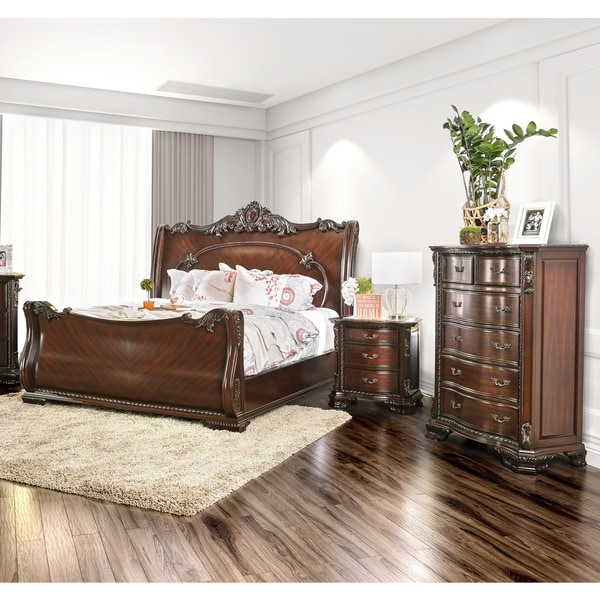 Furniture of America Now Traditional Cherry 3-piece Bedroom Set