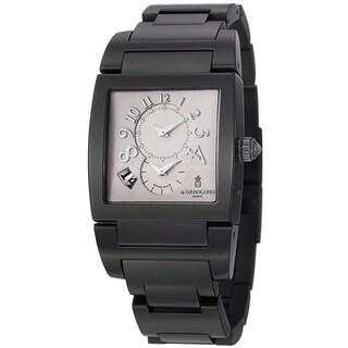 De Grisogono Men's UNODF N05B 'Instrmento' Silver Dial Black Stainless Steel Watch