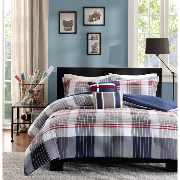 6007967b933 Shop Intelligent Design Harper Blue Comforter Set - On Sale - Free ...
