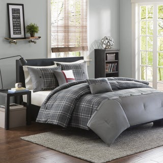 Intelligent Design Campbell Grey Plaid 5-Piece Comforter Set (3 options available)