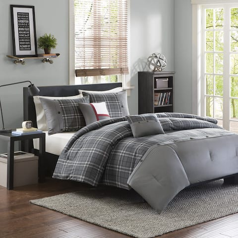 Intelligent Design Campbell Grey Comforter Set