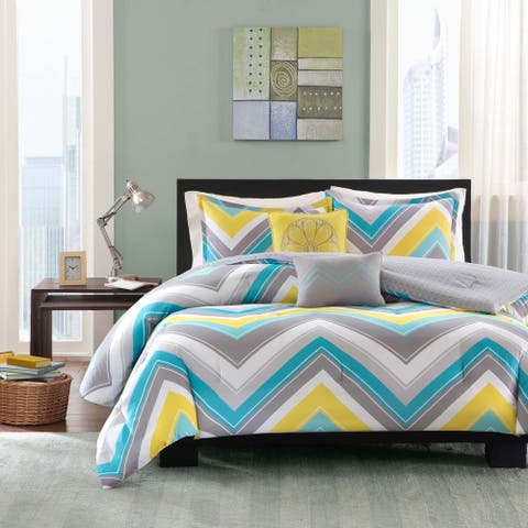 Intelligent Design Ariel Blue Comforter Set