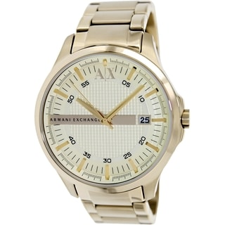 Armani Exchange Men's AX2131 Goldtone Stainless Steel Quartz Watch with Goldtone Dial